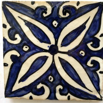 Azulejos arabe pintados a mano