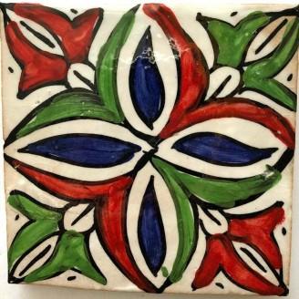 Azulejos arabe pintados a mano  10x10 cm-11mm