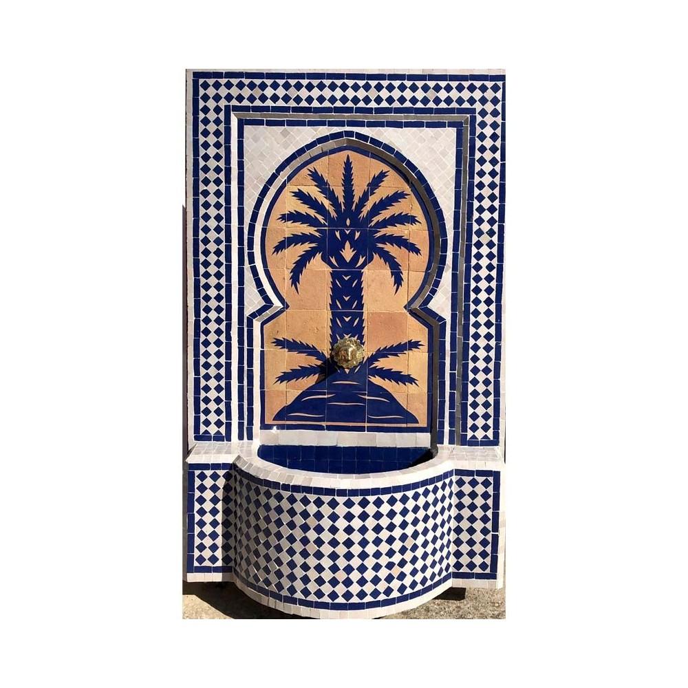 Fuente artesanal de palmera