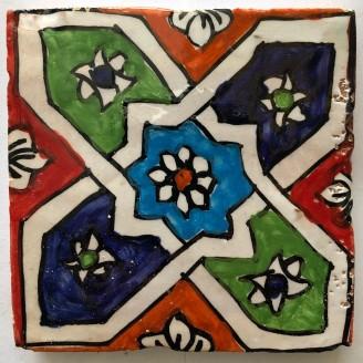 azulejos arabe pintado a mano