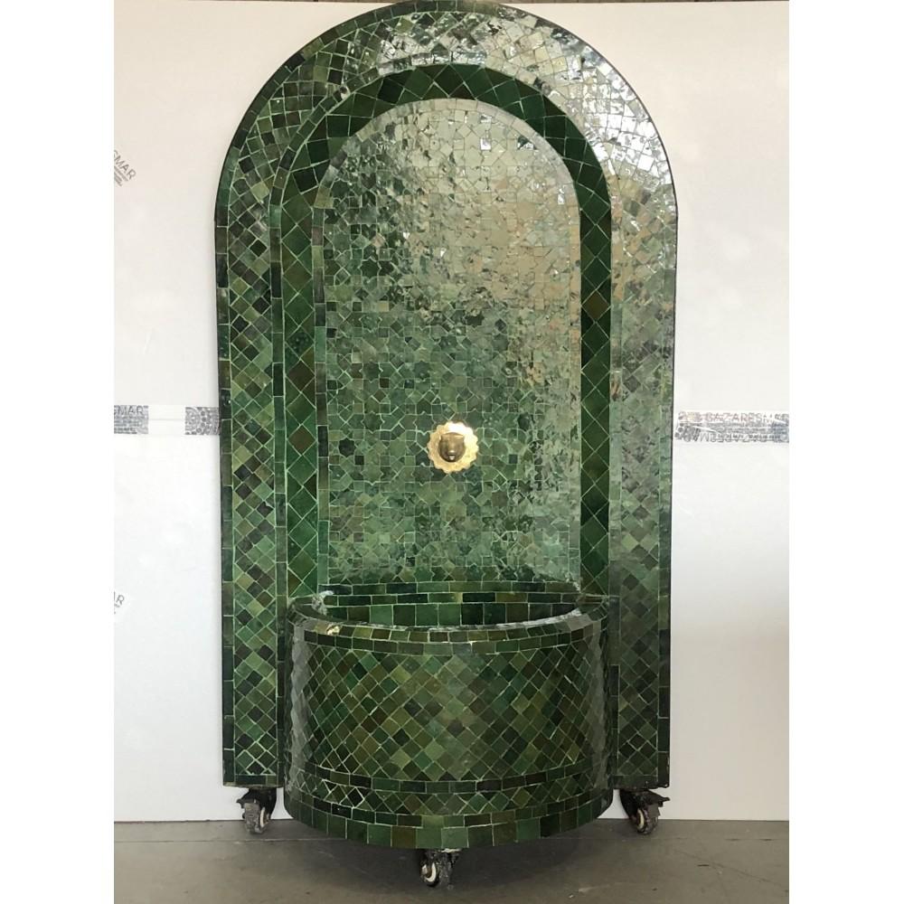 fuente artesanal arabe 1,28x68 verde