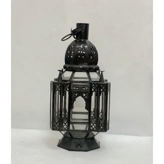lampara de forja y cristal 20x47