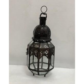 lampara de forja y cristal 18x45