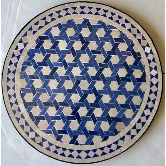 mesa de mosaico artesanal arabe
