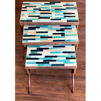 juego de mesas de mosaico