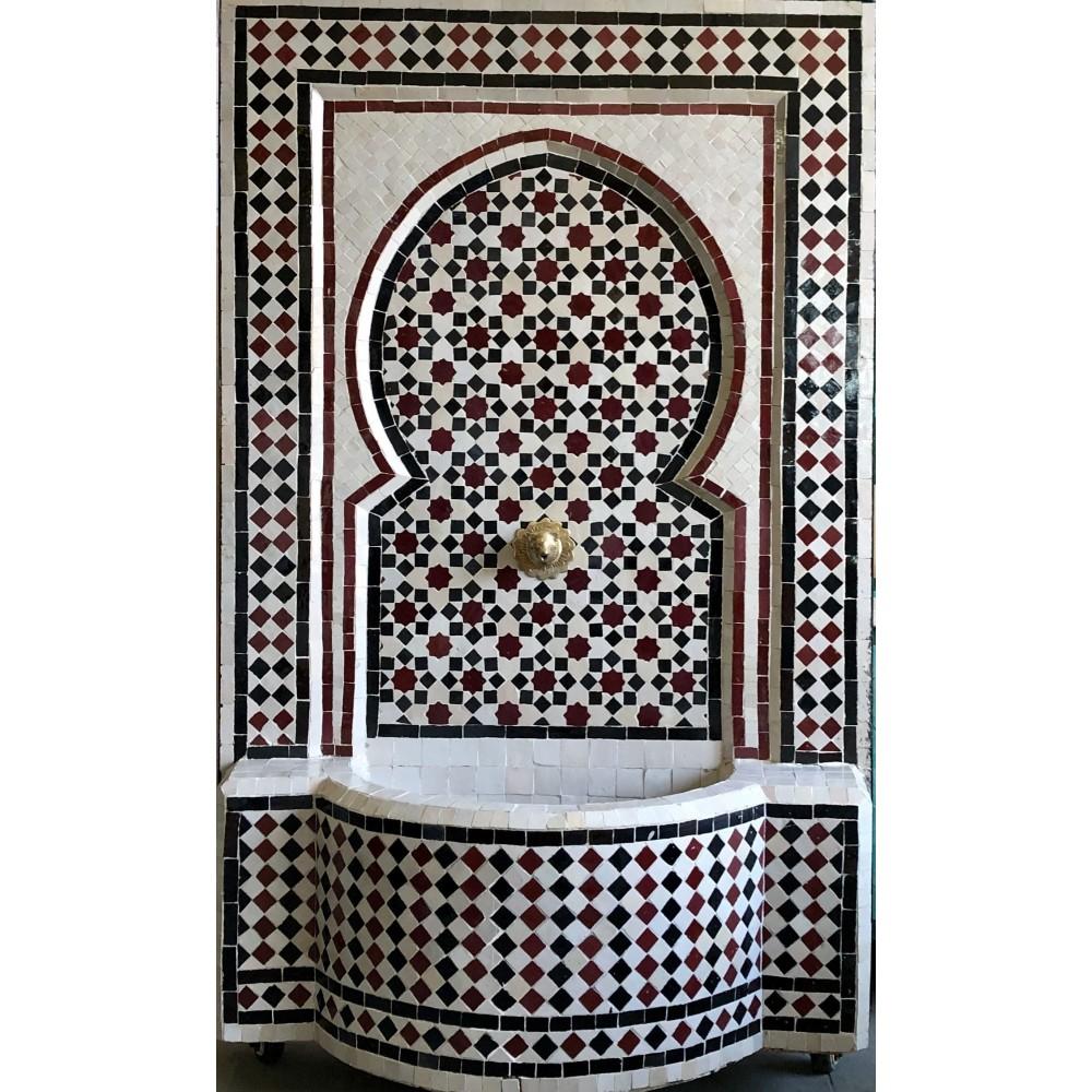 Fuente de mosaicos artesanal árabe 120x78,5 x39