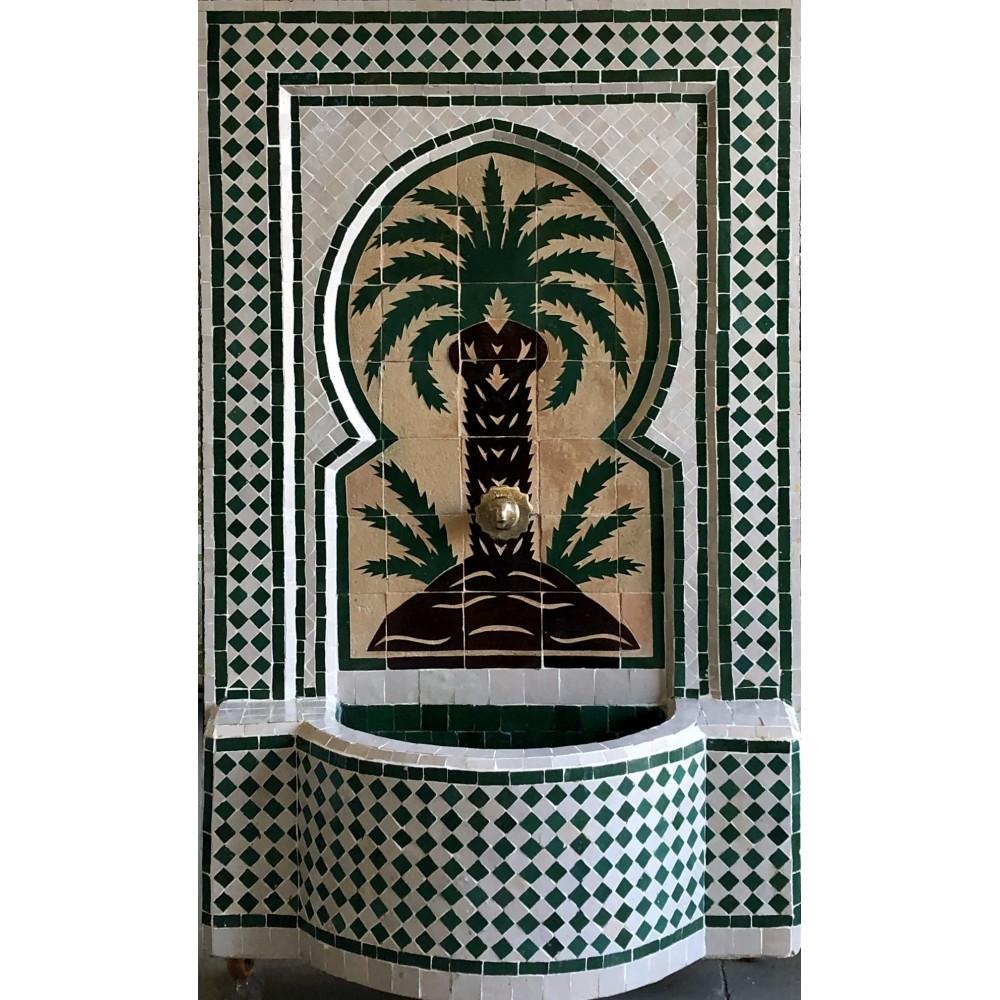 Fuente de mosaicos artesanal arabe 120x78x30