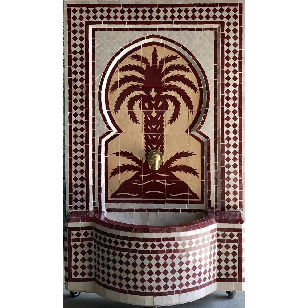 Fuente de mosaicos artesanal arabe 121*78,5*30