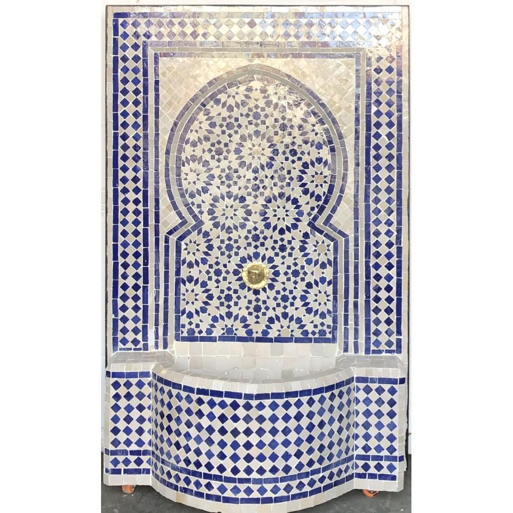 Fuente de mosaicos artesanales árabes marroquí 1,21x79x29
