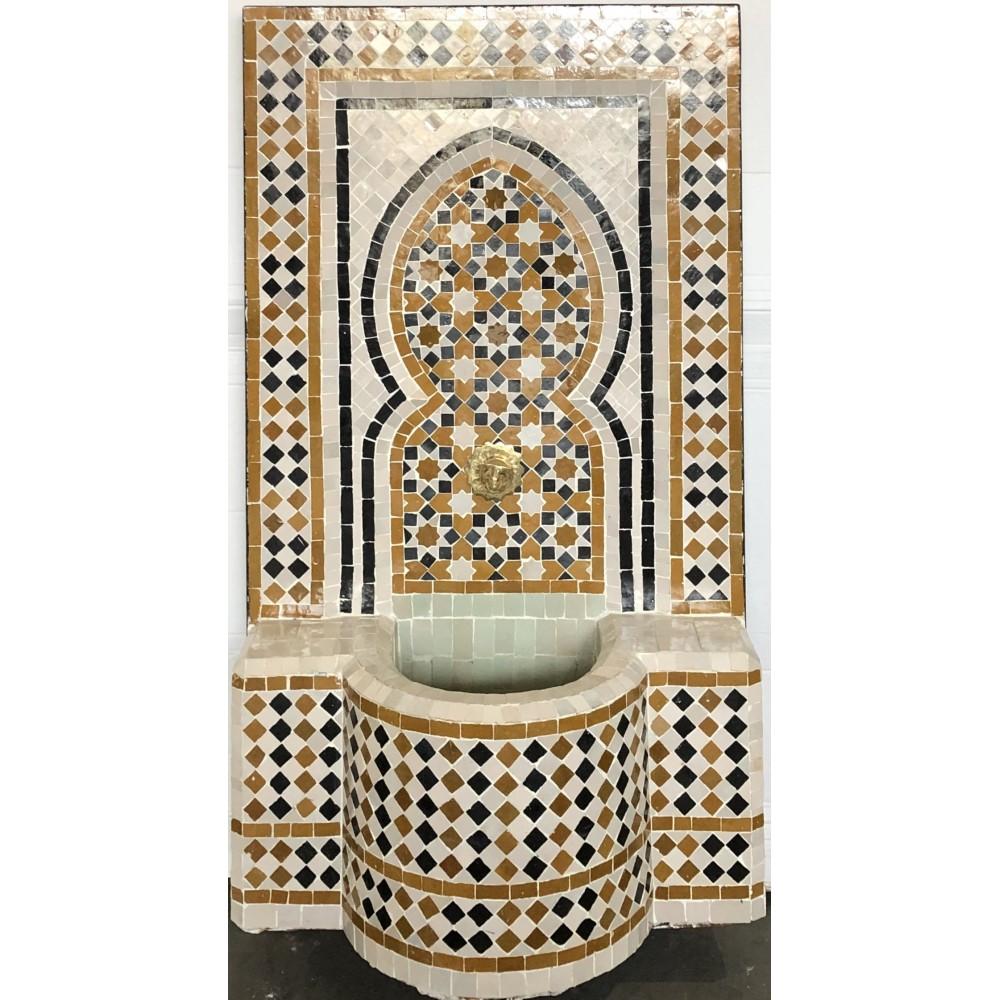 Fuente de mosaicos artesanales árabes marroquí 107x62x29