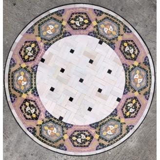 Mesa de mosaicos marroquí 60 diámetro por 50 centímetro de alto