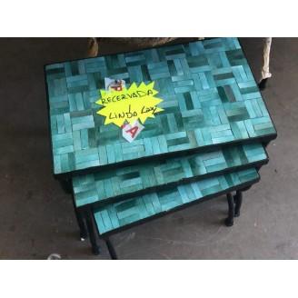juego de mesas de mosaico...