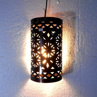lamparas de forja cristal 30 alto x 17 ancho