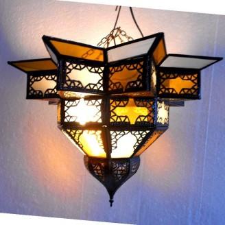 lamparas de forja cristal 28 alto x 42 ancho
