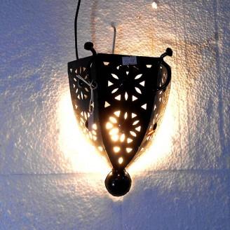 lamparas de forja cristal 27 alto x 18 ancho