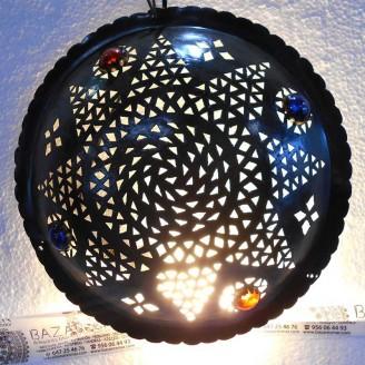lamparas de forja cristal 7 altura x 35 diámetro