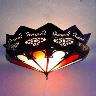 lamparas de forja cristal 15 altura x 37 diámetro
