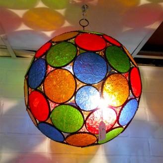 lamparas de forja cristal 30 altura x 30 diámetro