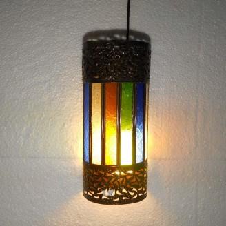lamparas de forja cristal 31 altura x 13 diámetro