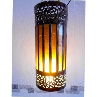 lamparas de forja cristal 32 altura x 14 diámetro