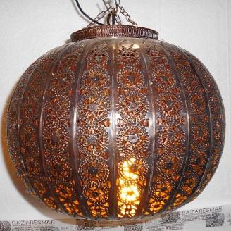 lamparas de forja cristal 34 altura x 40 diámetro