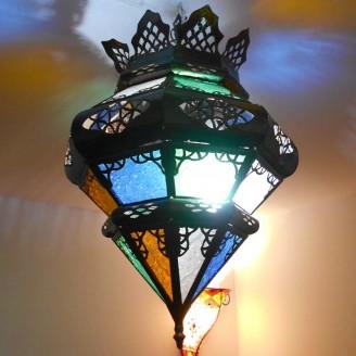 lamparas de forja cristal 35 altura x 30 diámetro