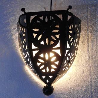 lamparas de forja cristal 36 alto x 27 ancho