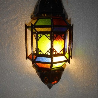 lamparas de forja cristal 40 alto  x 20 ancho