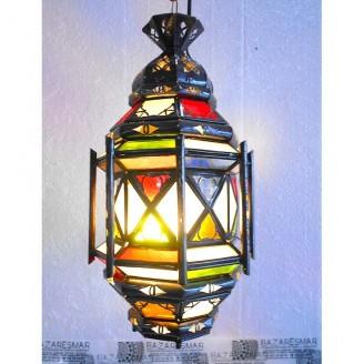 lamparas de forja cristal 40 alto x 20 diámetro