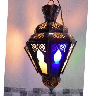 lamparas de forja cristal 40 alto x 23diámetro