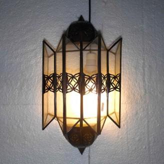 lamparas de forja cristal 40 alto x 24 diámetro