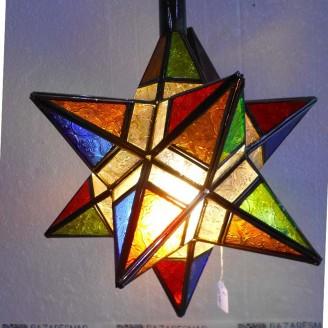 lamparas de forja cristal 40 alto x 30 diámetro