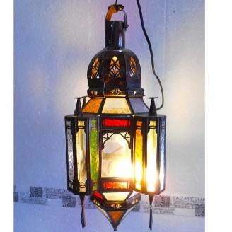 lamparas de forja cristal 44 alto x 20 diámetro