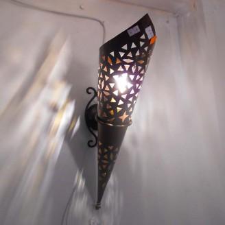 lamparas de forja cristal 45 alto x 10 diámetro