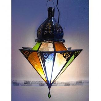 lamparas de forja cristal 45 alto x 30 diámetro