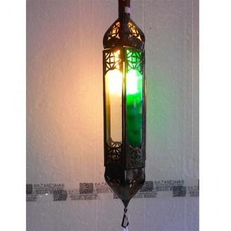 lamparas de forja cristal 47 alto x 10 diámetro