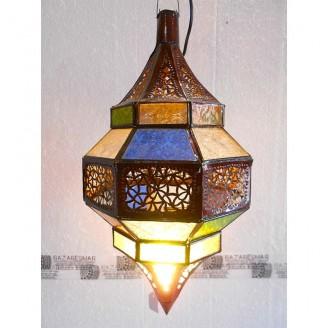 lamparas de forja cristal 47 alto x 25 diámetro