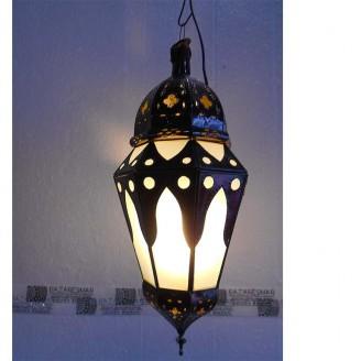 lamparas de forja cristal 50 alto x 22 diámetro