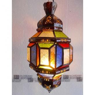 lamparas de forja cristal 50 alto x 25 diámetro