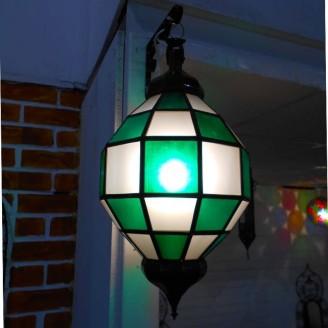 lamparas de forja cristal 50 alto x 26 diámetro