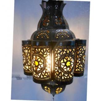lamparas de forja cristal 50 alto x 30 diámetro