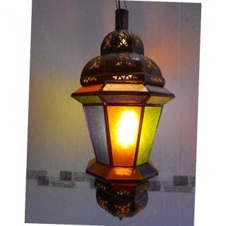 lamparas de forja cristal 53 alto x 25 diámetro