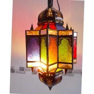 lamparas de forja cristal 53 alto x 30 diámetro