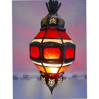 lamparas de forja cristal 55 alto x 25 diámetro