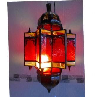 lamparas de forja cristal 58 alto x 30 diámetro