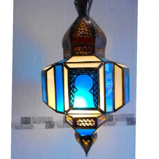 lamparas de forja cristal 60 alto x 30 diámetro