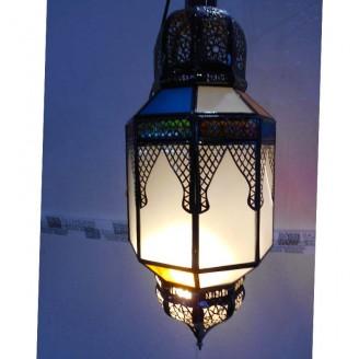 lamparas de forja cristal 65 alto x 24 diámetro