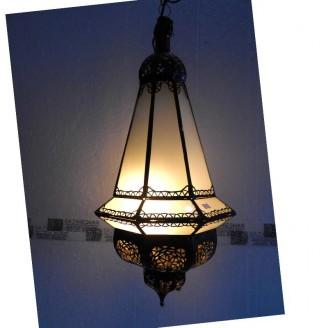 lamparas de forja cristal 65 alto x 30 diámetro