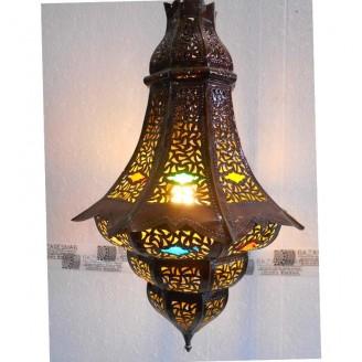 lamparas de forja cristal 66 alto x 44 diámetro