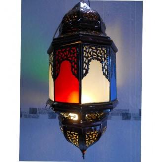 lamparas de forja cristal 70 alto x 33 diámetro